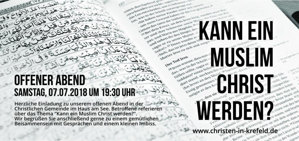 Flyer - Kann ein Muslim Christ werden